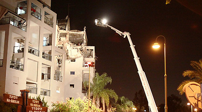 Rocket attack on Rishon Lezion (Photo: Naor Eini)
