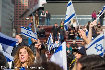 הפגנות תמיכה בישראל בטיימס סקוור