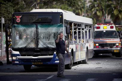 29 בני אדם נפצעו בפיגוע האוטובוס (צילום: AP)