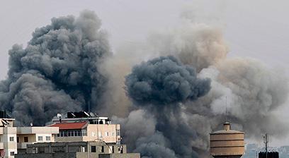 הפלסטינים דיווחו על 163 הרוגים במהלך המבצע (צילום: רויטרס)