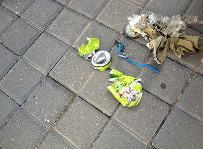 """אחד """"המטענים"""" שהתגלו (צילום: דוברות משטרת ירושלים)"""