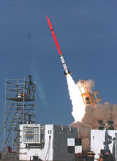ניסוי בשרביט הקסמים (ארכיון). מיליון דולר לטיל (צילום: באדיבות משרד הבטחון )