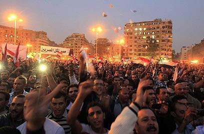 ההפגנה אמש (צילום: רויטרס)