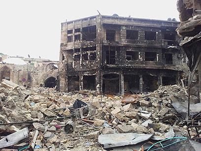 העיר חלב לאחר עימותים בין המורדים לכוחות אסד (צילום: רויטרס)
