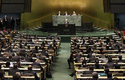 מליאת העצרת הכללית, הערב (צילום: AP)