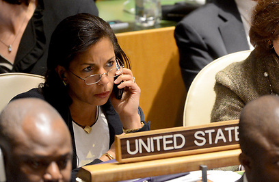 """סוזן רייס, אמש בעצרת האו""""ם (צילום: AFP)"""