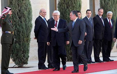 פגישה בעמאן. הנשיא והמלך (ארכיון) (צילום: רויטרס)