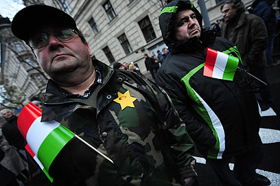 הפגנה נגד יוביק (צילום: AFP)
