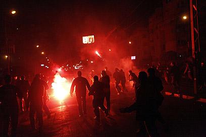 קהיר, הלילה (צילום: AFP)