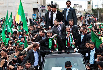 מנהיגי חמאס בעזה. את האמת יגידו בחדרי חדרים (צילום: רויטרס)