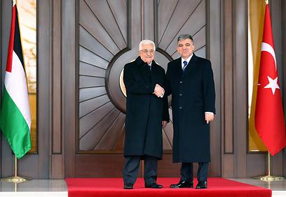 אבו מאזן והנשיא הטורקי גול. חותר לפיוס (צילום: AFP)