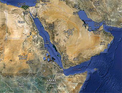 אריתריאה והאזור. האיום הביטחוני המרכזי - אתיופיה (צילום: google map)