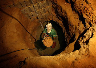 Gaza-Egypt tunnel (Photo: AP)