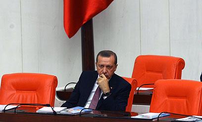 """""""טורקיה ביצעה רפורמות במערכת המשפט והחינוך"""". ארדואן (צילום: AFP)"""