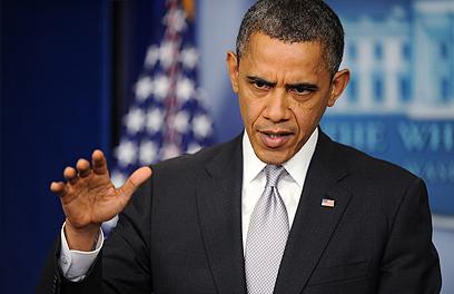 שלח מסר תקיף לנשיא הסורי. אובמה (צילום: MCT)