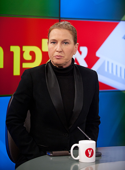 לבני באולפן ynet (צילום: בני דויטש)