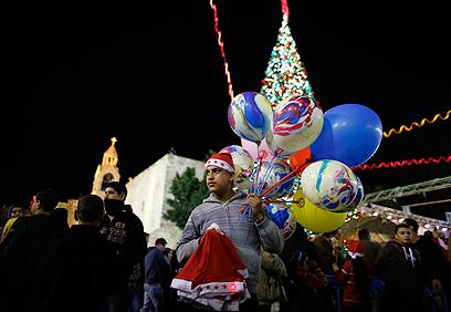אווירת חג בבית לחם (צילום: רויטרס)