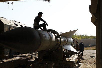 טיל סורי שנפל בידי המורדים, ארכיון (צילום: רויטרס)