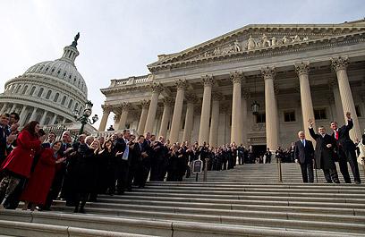 הקונגרס האמריקני. קשיים צפויים בסנאט (צילום: AP)