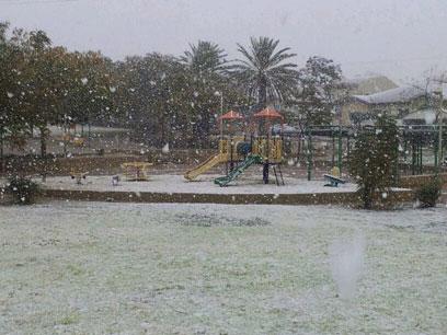 גן משחקים בדימונה (צילום: שגיא עמית)