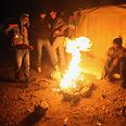 Bonfire at outpost Photo: AFP
