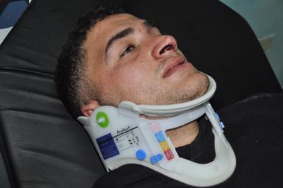 אחד הפצועים הפלסטינים מהמאחז