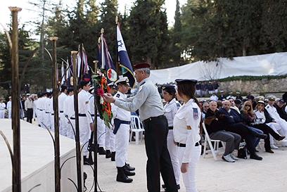 """הרמטכ""""ל בטקס הזיכרון, היום בהר הרצל (צילום: אוהד צויגנברג)"""