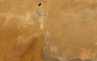 שדה הגז במבט מלמעלה (צילום: רויטרס)