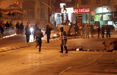 הפלסטינים שלחו כוחות רבים לאזור (צילום: AFP)