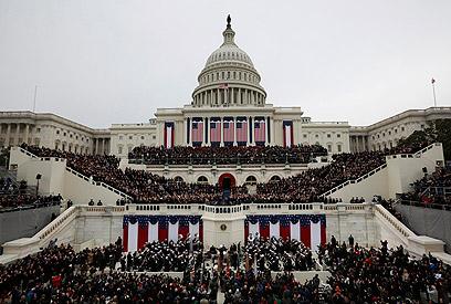 הטקס על גבעת הקפיטול (צילום: רויטרס)