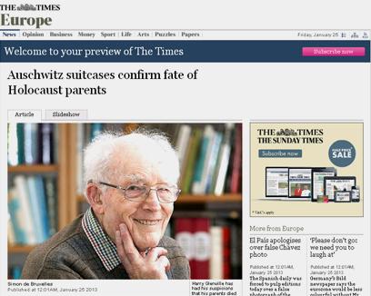 """הארי גרינווייל, בצילום מתוך ה""""טיימס"""""""