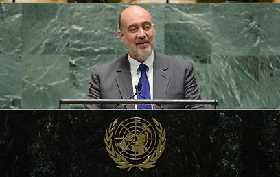 """""""חמאס מחנך לאנטישמיות"""". השגריר פרושאור באו""""ם (צילום: שחר עזרן)"""