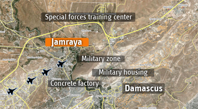 Route taken by IAF jets