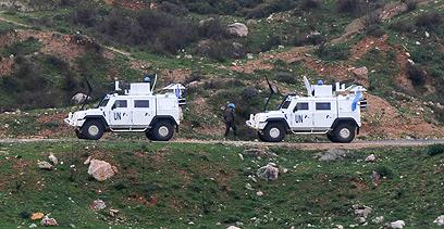 """כוחות או""""ם בגבול לבנון (צילום: אביהו שפירא)"""
