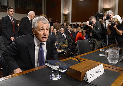 צפוי לו שימוע קשה. הייגל בסנאט (צילום: AFP)