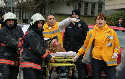 כמה בני אדם נפצעו בפיגוע (צילום: AP)