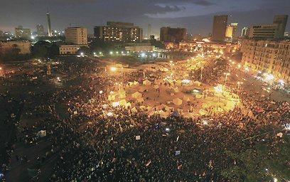 כיכר תחריר בקהיר, הערב (צילום: רויטרס)