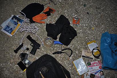האמצעים שנתפסו במכונית במחסום אייל