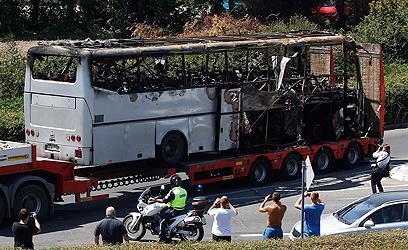 האוטובוס שהתפוצץ בבורגס (ארכיון)         (צילום: רויטרס)