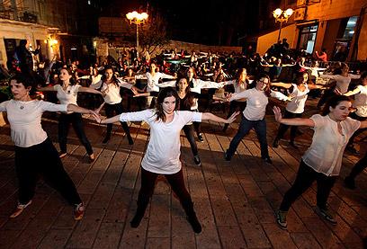 רוקדות גם בירושלים (צילום: גיל יוחנן)