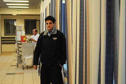 בית החולים זיו בצפת בעת אשפוזם של הסורים (צילום: אביהו שפירא)