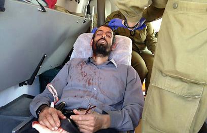 """ישראלי שנפצע קל בראשו הבוקר (צילום: הצלה יו""""ש)"""