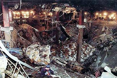 המצרי התריע, האמריקנים לא הקשיבו לו. זירת הפיגוע במרכז הסחר העולמי, 1993