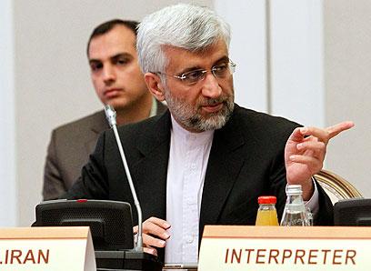 """עיקשים בעמדתם. ראש צוות המו""""מ האיראני ג'לילי (צילום: AP)"""