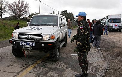 """כוח אודו""""ף של האו""""ם. מסייע למשטר אסד? (צילום: רויטרס)"""