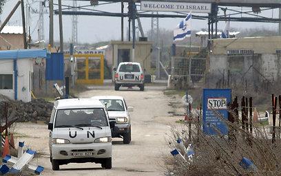 """כוחות או""""ם בגבול סוריה (צילום: AFP)"""