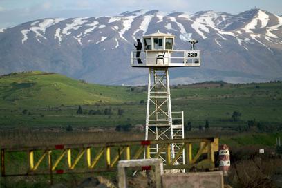 """עמדת או""""ם באזור החיץ ברמת הגולן (צילום: AP)"""