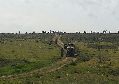 העימות בשטחים. שישה פצועים (צילום: באדיבות סוכנות תצפית)