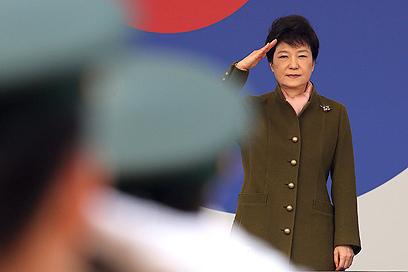 נשיאת דרום קוריאה התחייבה להגיב לכל התגרות של צפון קוריאה (צילום: AP)