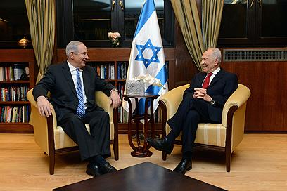 """הנשיא וראש הממשלה בערב  (צילום: קובי גדעון, לע""""מ)"""
